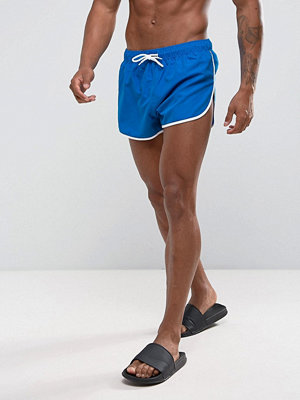 Badkläder - ASOS Swim Shorts With Extreme Side Split And Contrast Binding In Super Short Length