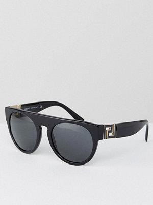 Solglasögon - Versace Round Sunglasses with Flat Brow