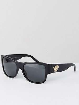 Solglasögon - Versace Square Sunglasses With Side Medusa