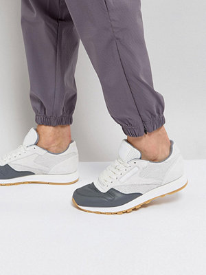 Sneakers & streetskor - Reebok Classic Leather LS Trainers In White BS5080