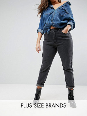 Liquor N Poker Plus Boyfriend Jeans with Stepped Waist