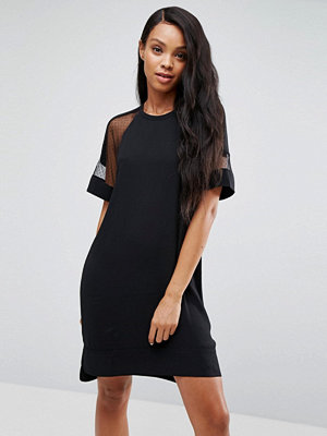 Samsøe & Samsøe Mouton Mesh Sleeve Dress - 7 black
