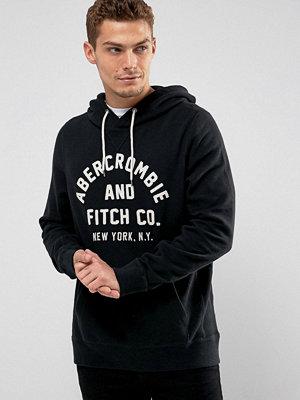 Street & luvtröjor - Abercrombie & Fitch Logo Hoodie in Black