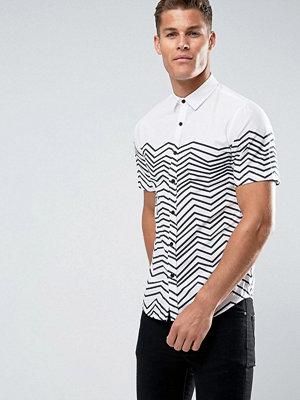 Skjortor - Only & Sons Striped Short Sleeve Shirt