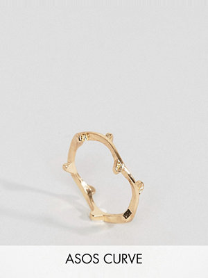 ASOS Curve Woven Leaf Ring