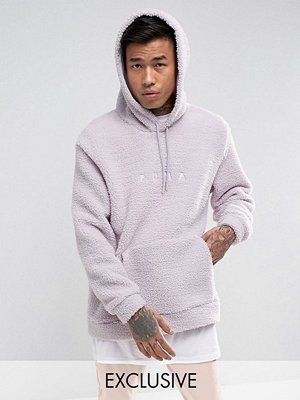 Street & luvtröjor - Puma Borg Pullover Hoodie In Lilac Exclusive to ASOS 57658201