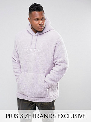 Street & luvtröjor - Puma PLUS Borg Pullover Hoodie In Lilac Exclusive to ASOS 57658201