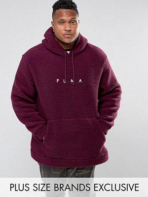 Street & luvtröjor - Puma PLUS Borg Pullover Hoodie In Purple Exclusive to ASOS 57658202