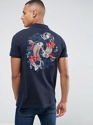 Pikétröjor - Brave Soul Back Embroidered Polo