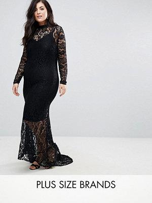 Club L Plus Allover Lace Fishtail Maxi Dress