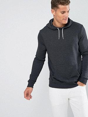 Street & luvtröjor - New Look Hoodie With Pocket In Dark Grey