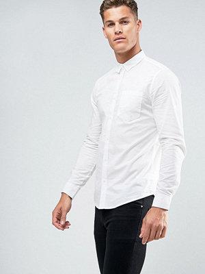 Skjortor - New Look Regular Fit Cotton Shirt In White