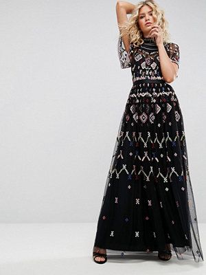 Needle & Thread Embroidered Maxi Dress