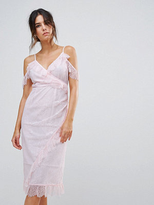 Warehouse Eyelash Cold Shoulder Dress