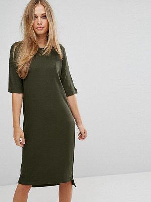 Selected Ribbed Midi Dress