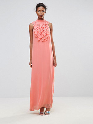 Traffic People Maxi Dress With Ruffle Detail