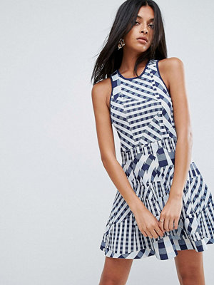 To Be Adored Dessy Patchwork Gingham Dress