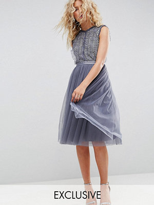 Needle & Thread Embellished Midi Tulle Dress