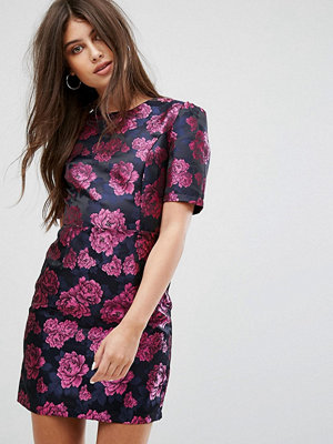 Fashion Union Dress In Metallic Jaquard