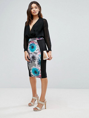 Paper Dolls Tropical Geo Floral Pencil Skirt