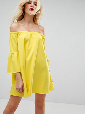 ASOS Off Shoulder Dress with Bell Sleeve