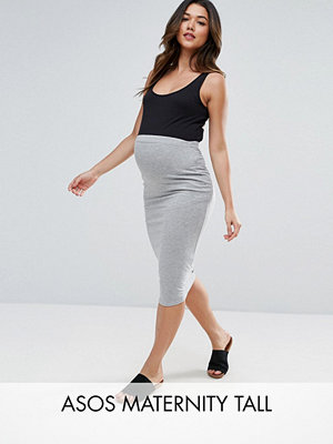 ASOS Maternity TALL Longer Line Midi Pencil Skirt in Jersey