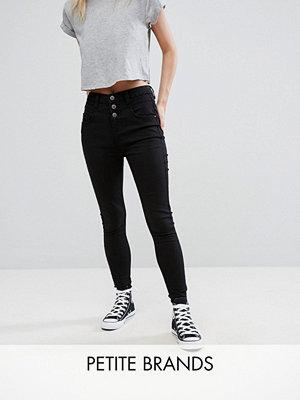 New Look Petite Jeans med hög midja och extra smal passform