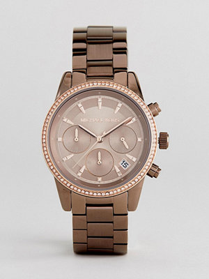 Michael Kors MK6529 Ritz Glitter Bracelet Watch In Brown