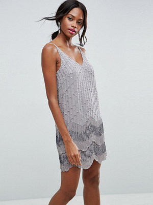 ASOS Ultra Mini Embellished Double Hem Mini Dress