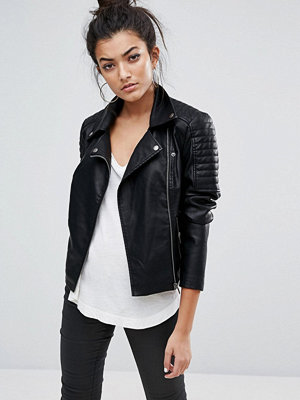 Noisy May Leather Look Jacket
