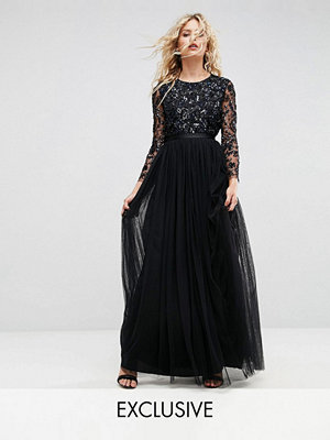 Needle & Thread Embellished Gown with Long Sleeves