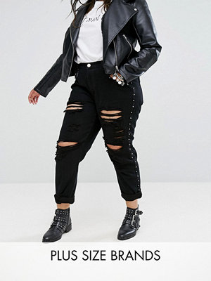 Alice & You Boyfriend Jeans With Metal Stud Detail