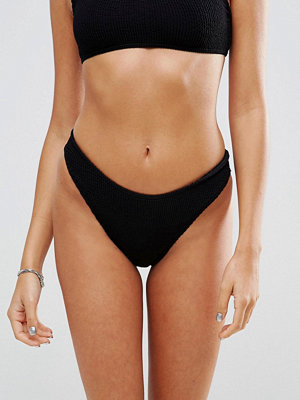 Bikini - ASOS Mix and Match Crinkle High Leg Hipster Bikini Bottom