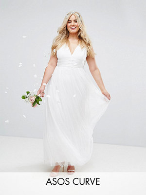 ASOS Curve BRIDAL Tulle Maxi Prom Dress