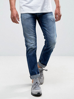 Jeans - Replay Grover Straight Jean Dark wash Rips