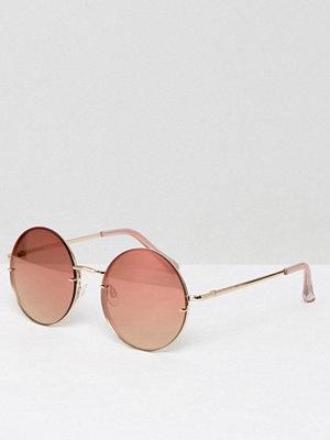Solglasögon - Aldo Kaasa Rose Gold Round Sunglasses