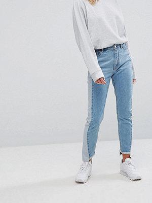 Jeans - Monki Kimomo Sparkle Side Panel Mom Jeans