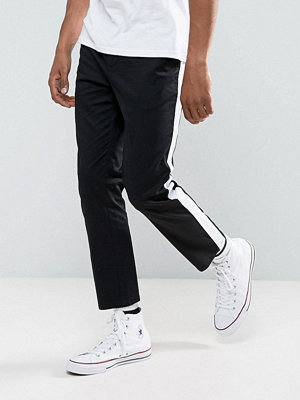 ASOS DESIGN Slim Cropped Chinos With Side Stripe