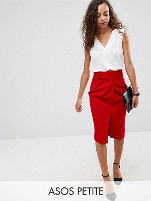 ASOS Petite Belted Pencil Skirt