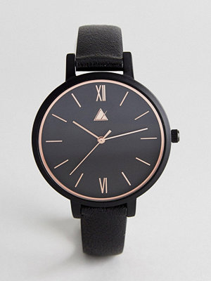 Klockor - ASOS Curve Rose Gold Edge Detail and Black Watch