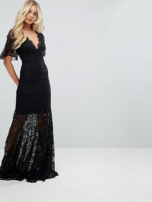 Body Frock Bodyfrock Plunge Front Lace Fishtail Maxi Dress
