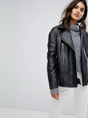 Y.a.s Oversized Leather Jacket