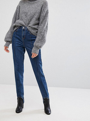 Noisy May Jeans med fothällor Mellanblå denim