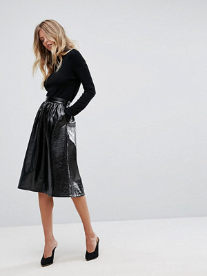 Vero Moda Vinyl Midi Skirt