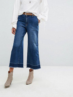 Free People Vintage A Line Cropped Flared Jeans