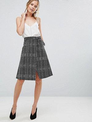 Closet London Closet Stripe Wrapover Skirt