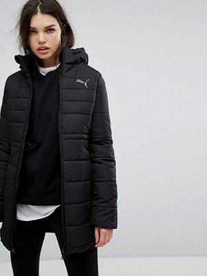 Puma Essentials Long Padded Jacket In Black