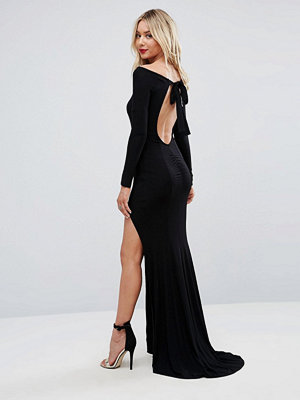 ASOS Long Sleeve Open Back Maxi Fishtail Dress