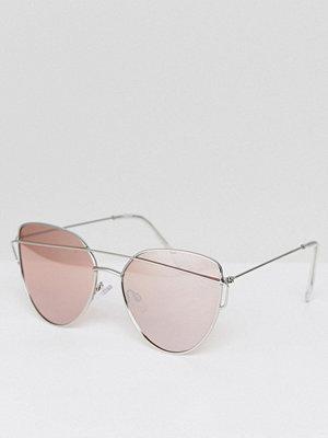 Solglasögon - Pieces Tinted Brow Bar Cat Eye Sunglasses