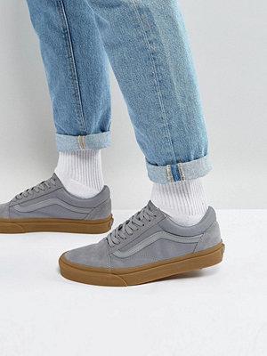 Sneakers & streetskor - Vans Old Skool Trainers With Gum Sole In Grey VA38G1PO9